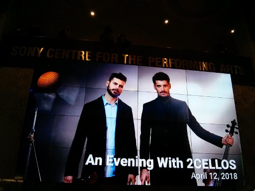 An Evening With 2Cellos – Sony Center of Performing Arts